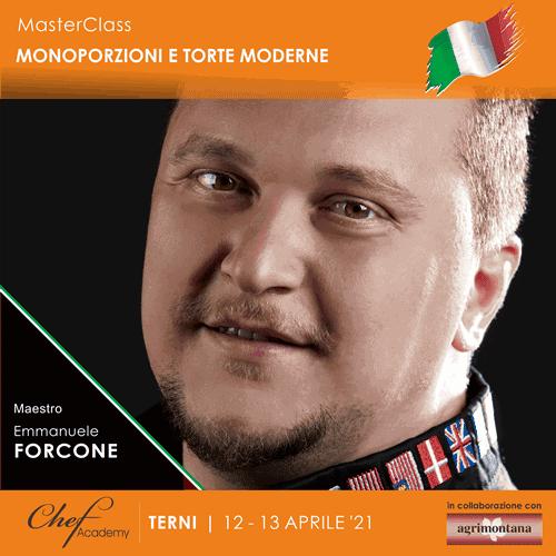 """MasterClass Pratica """"Monoporzioni e Torte Moderne"""" con Emmanuele Forcone"""